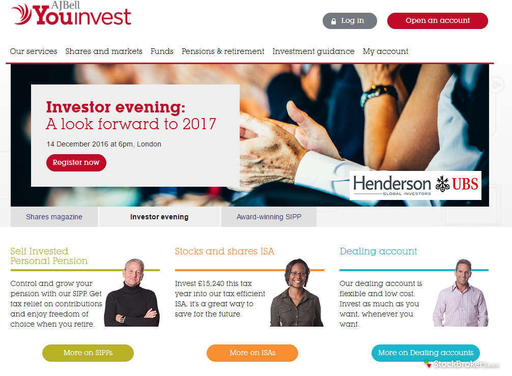 AJ Bell Youinvest Homepage