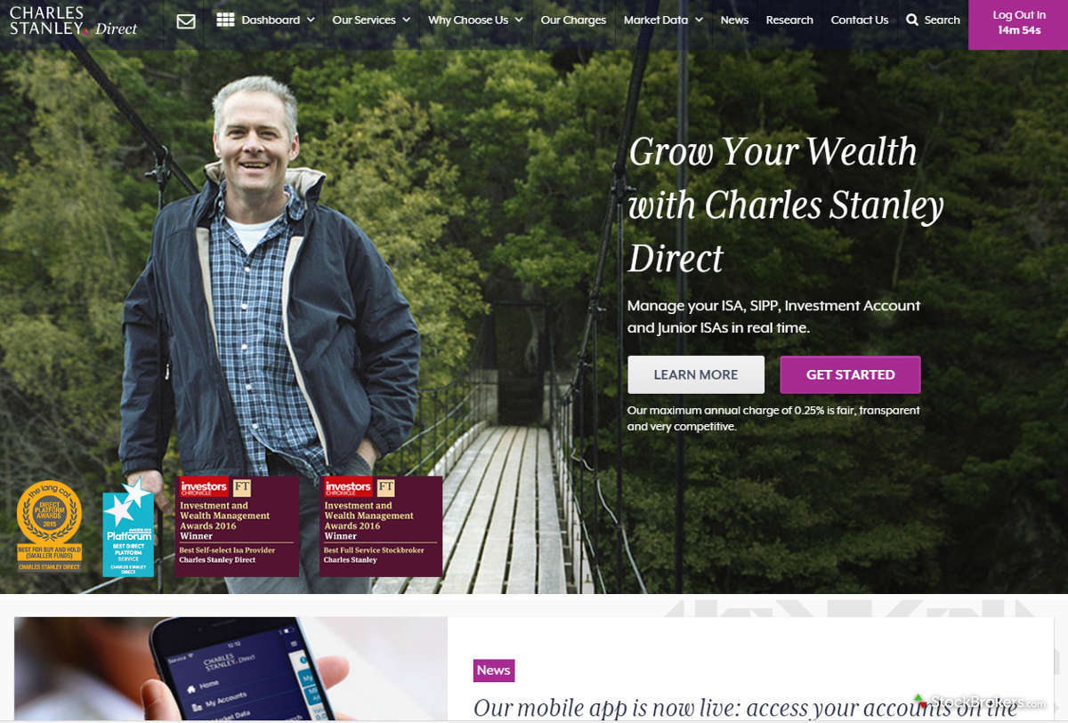 Charles Stanley Direct Homepage