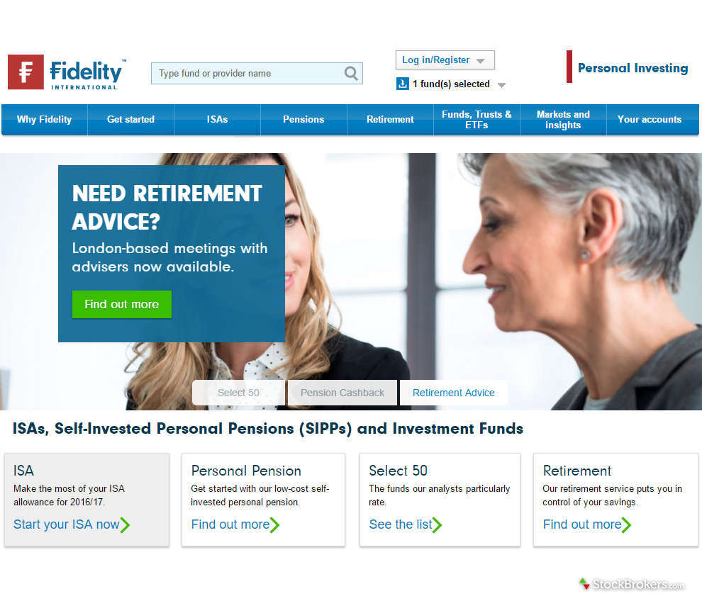 Fidelity International Homepage