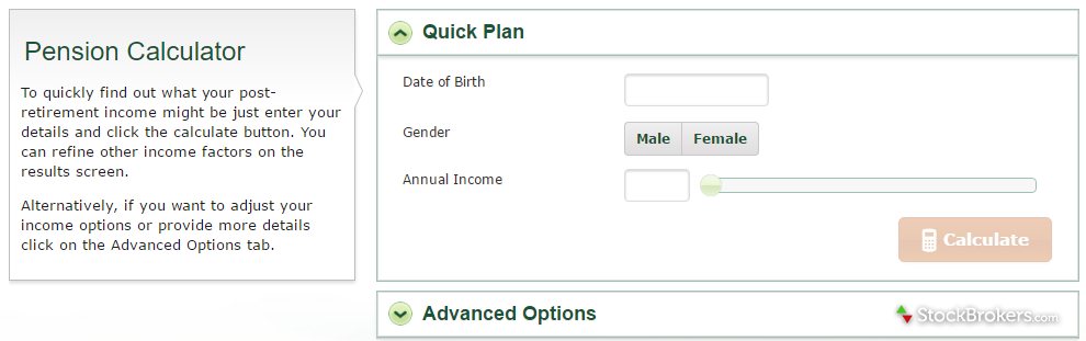 TD Direct Investing Pension Calculator