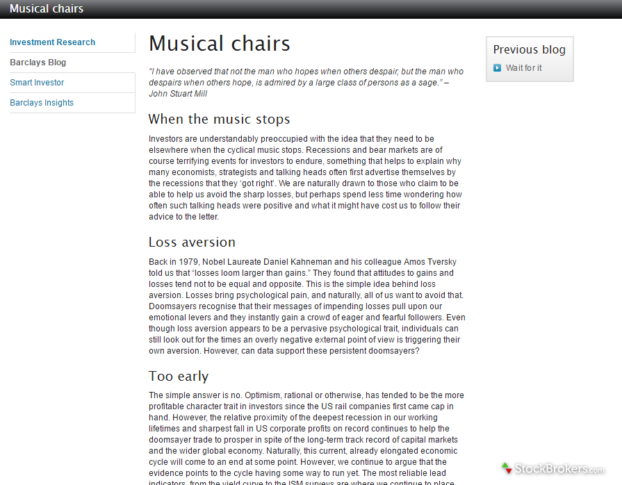 Barclays Blog