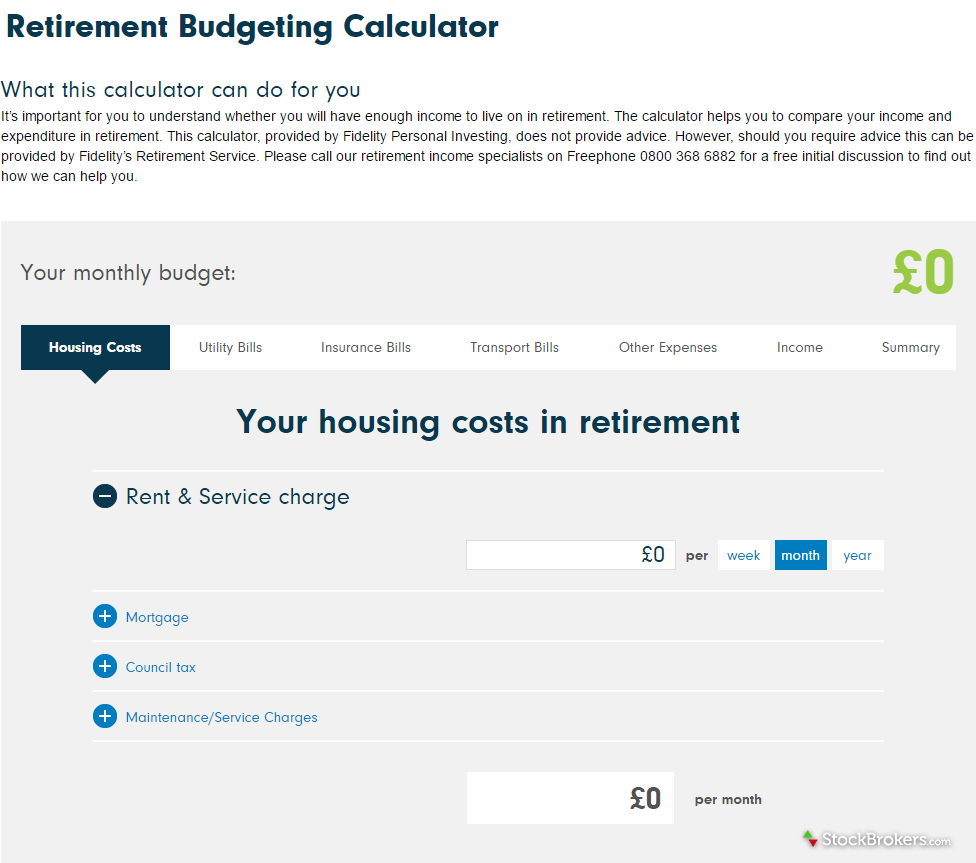 Fidelity International Retirement Budgeting Calculator