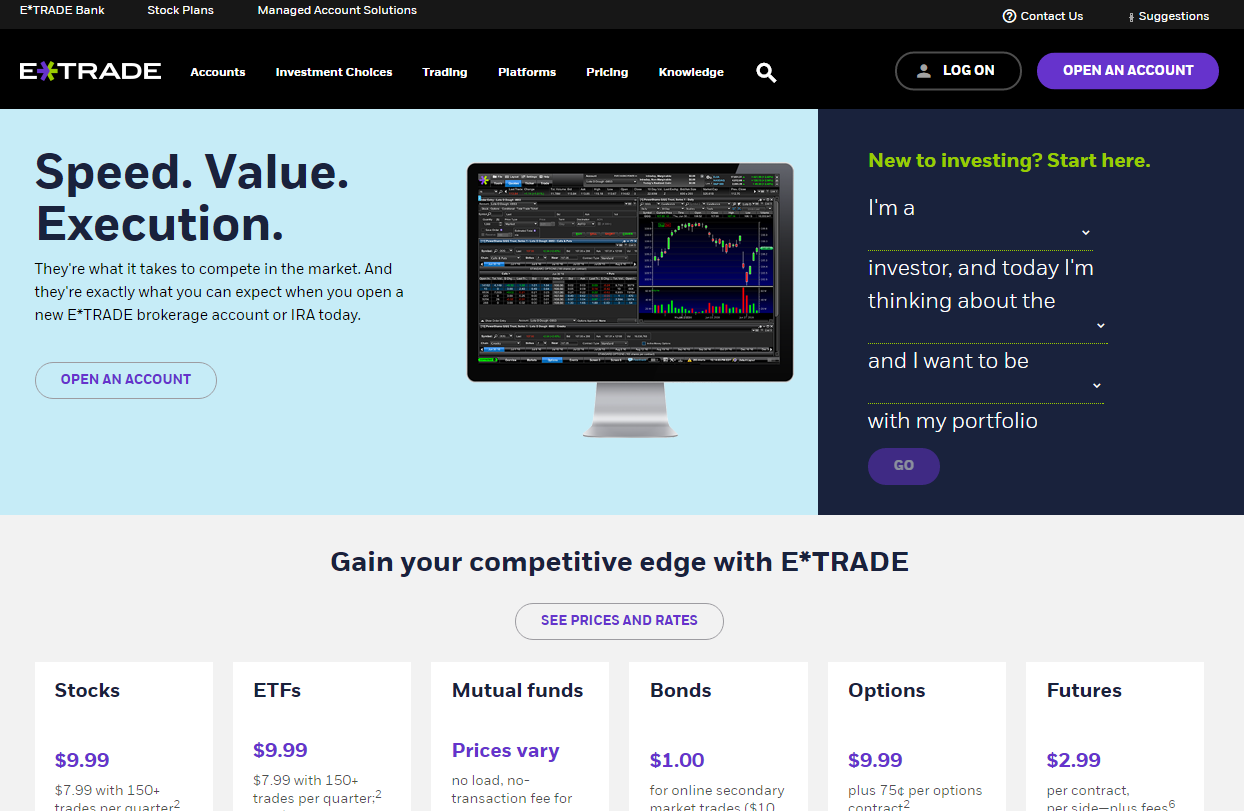 Stop On Quote Etrade E*trade Review  Stockbrokers
