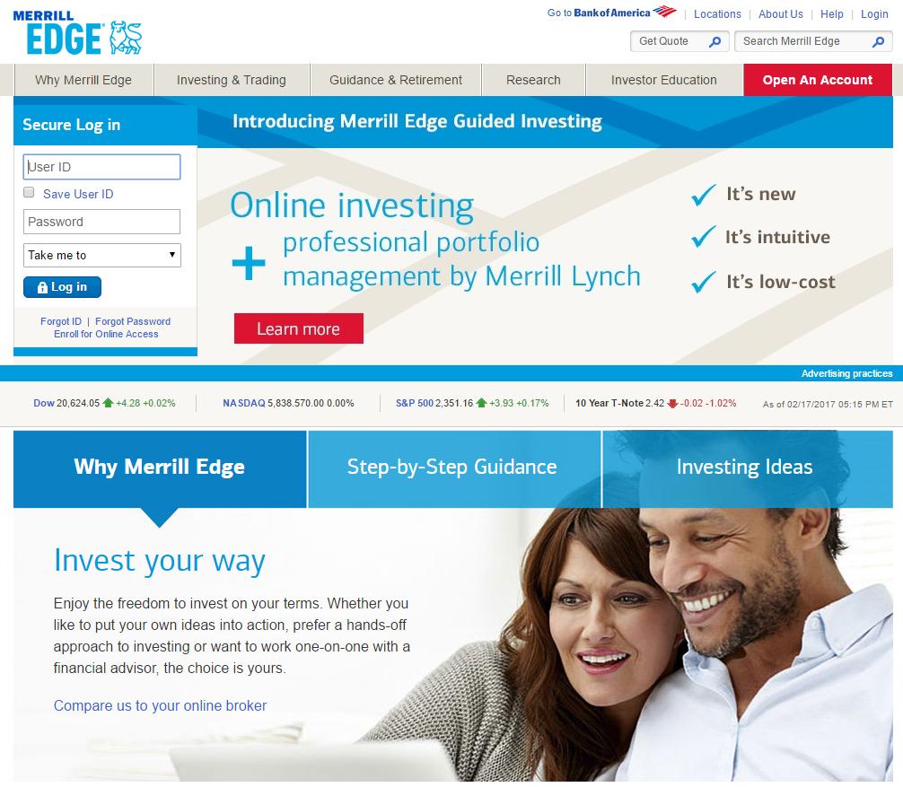 Merrill Edge Homepage