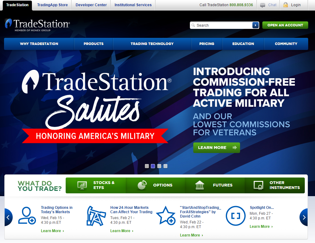 TradeStation Securities Homepage