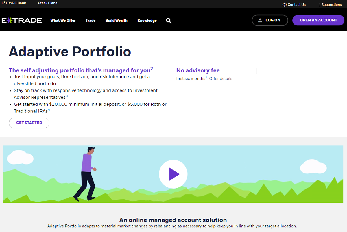 How To Buy Stock In The Pre Market With Etrade E*trade Adaptive Portfolio  Review
