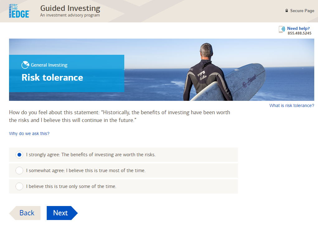 Merrill Edge Guided Investing Questionnaire