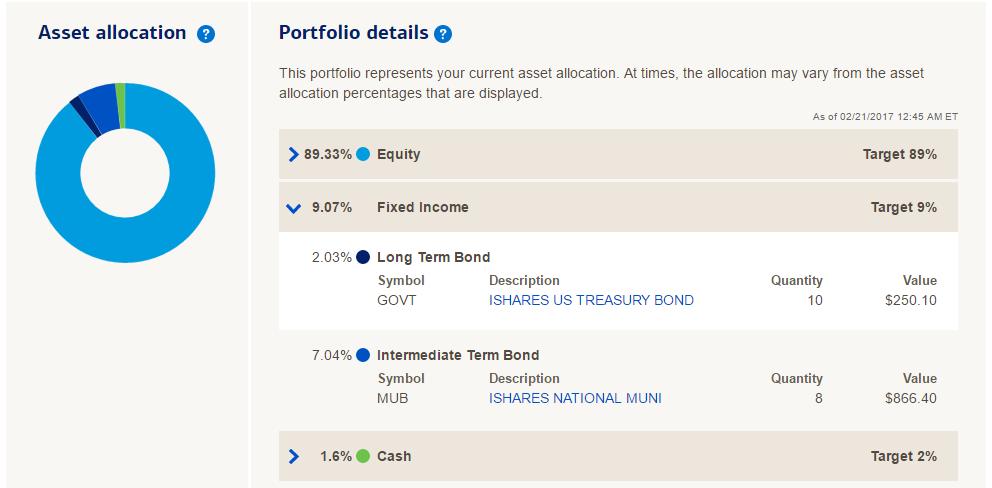 Merrill Edge Guided Investing Portfolio Details