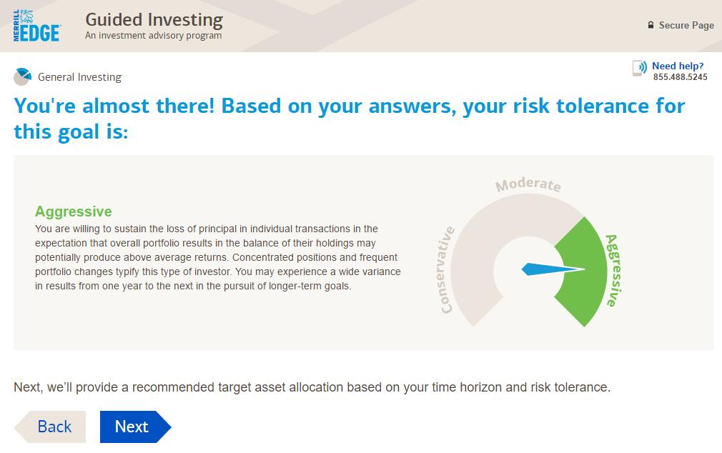 Merrill Edge Guided Investing portfolio construction