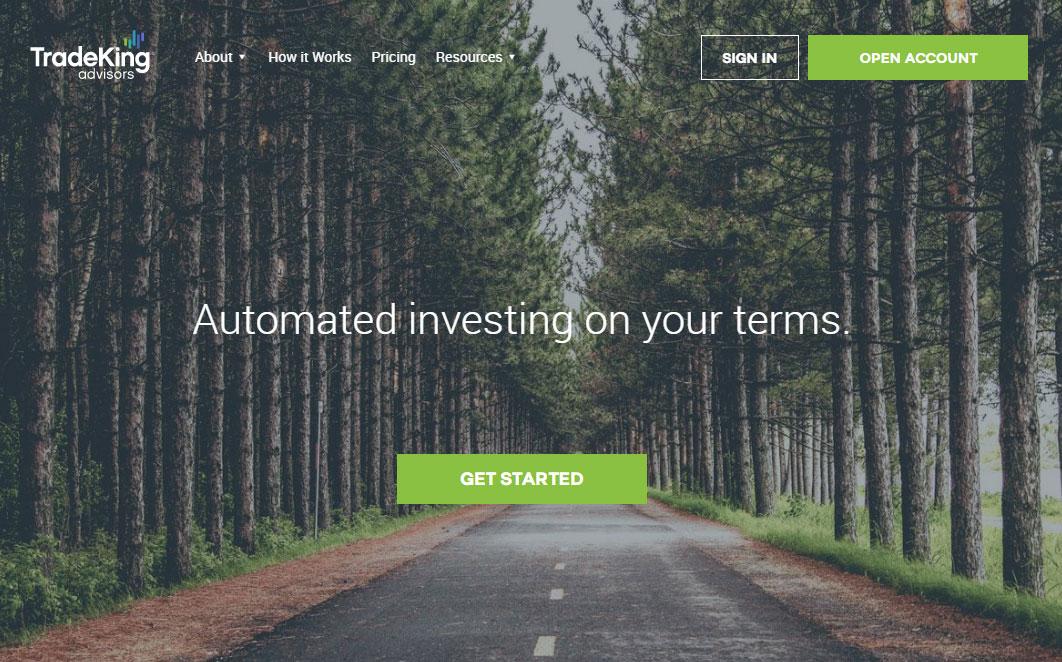 TradeKing Advisors Homepage