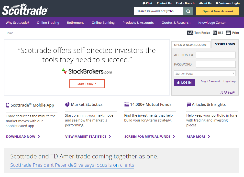 Scottrade Homepage