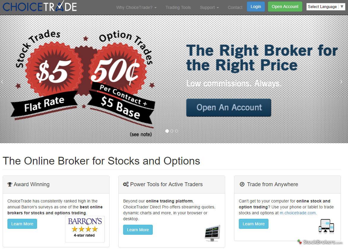Stock options online brokers