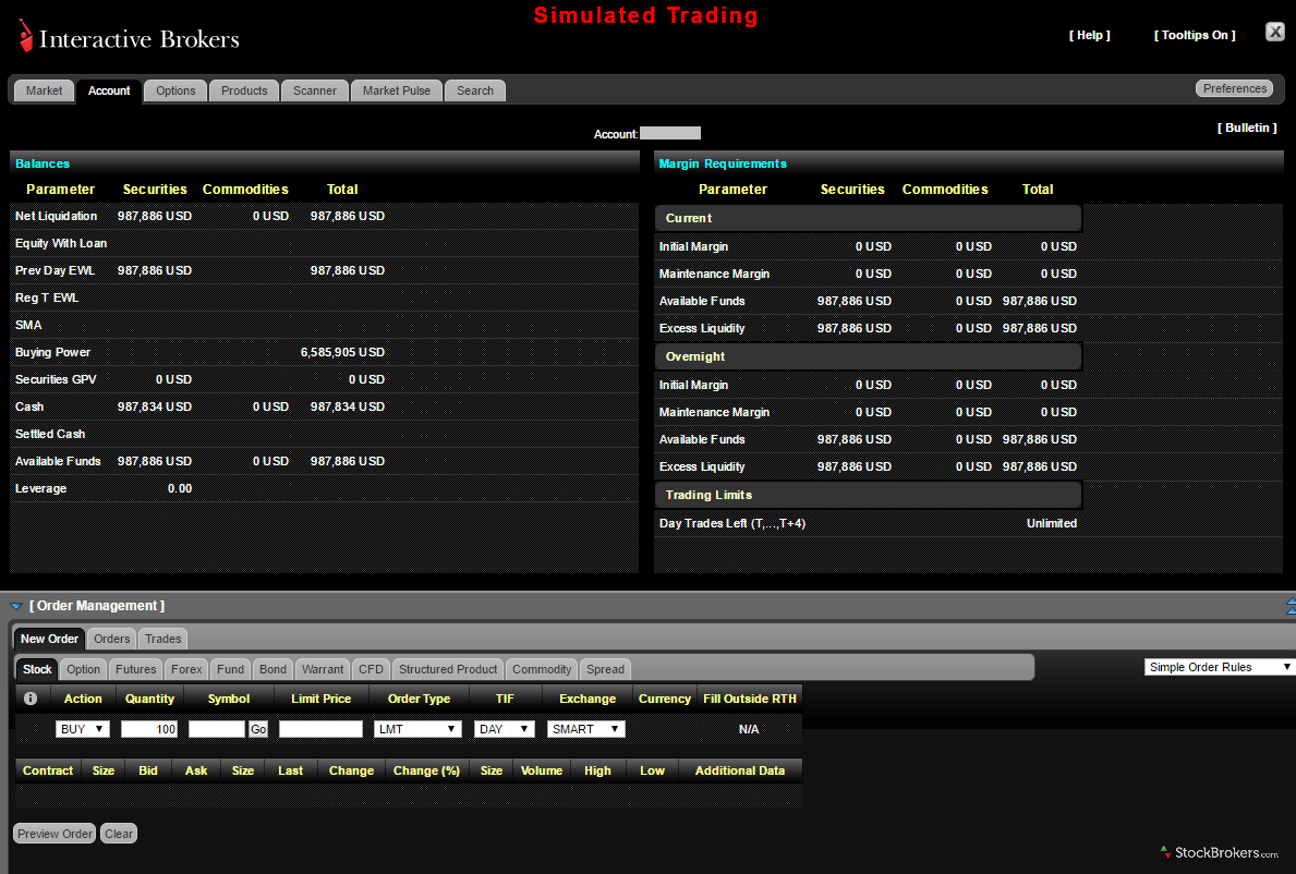 Interactive Brokers Web Trader
