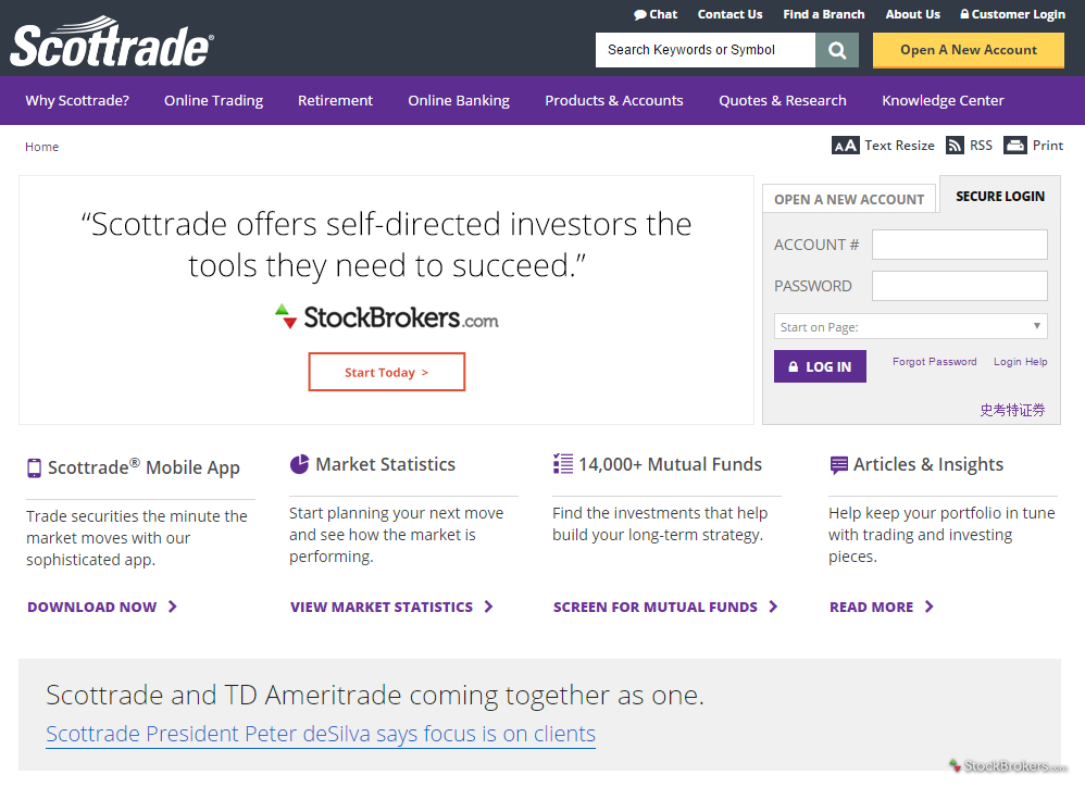 Scottrade Homepage