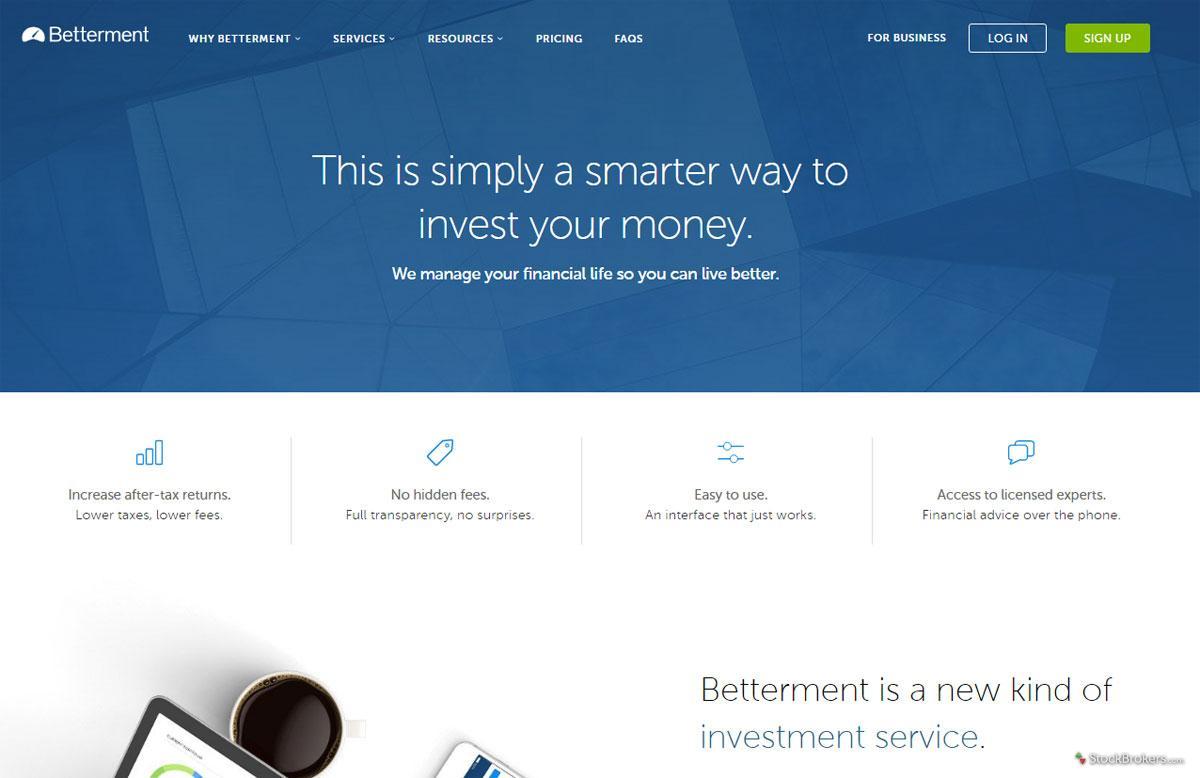 Betterment Homepage