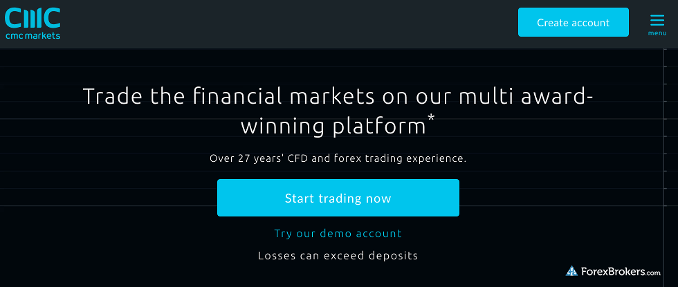 CMC Markets Homepage
