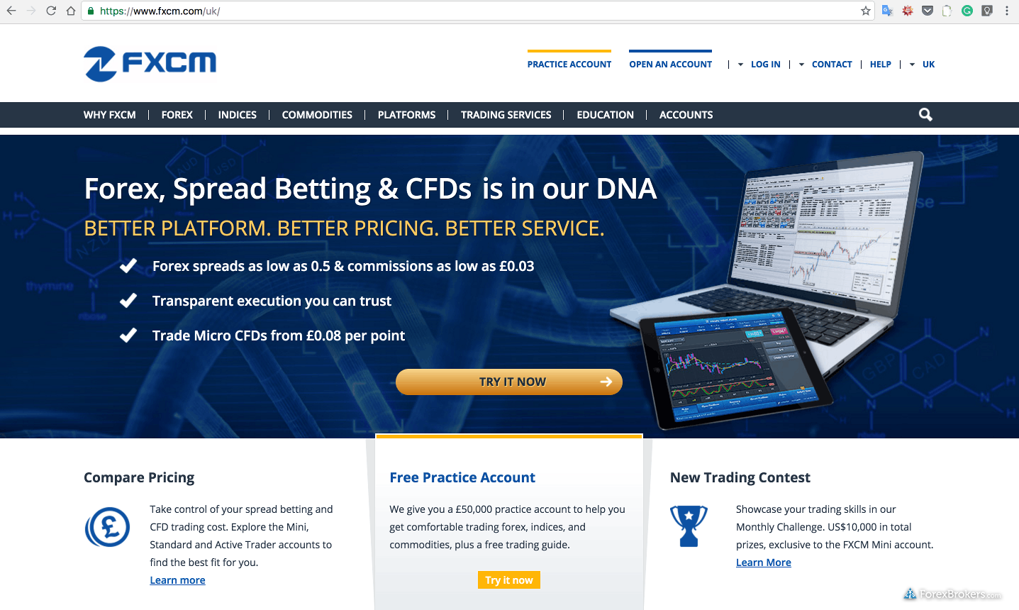 Fxcm forex account