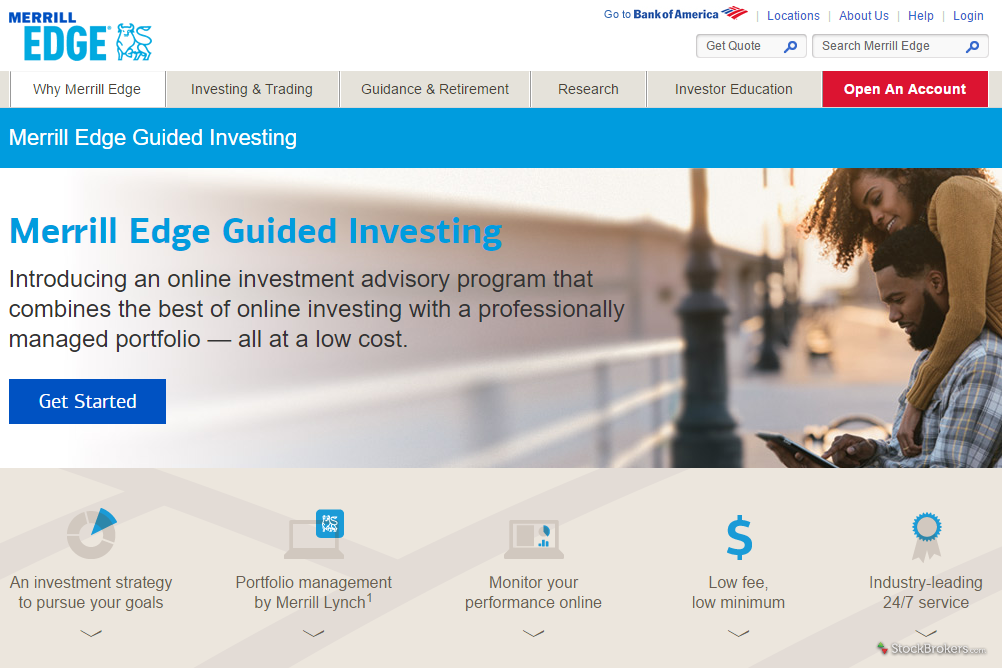 Merrill Edge Guided Investing Homepage