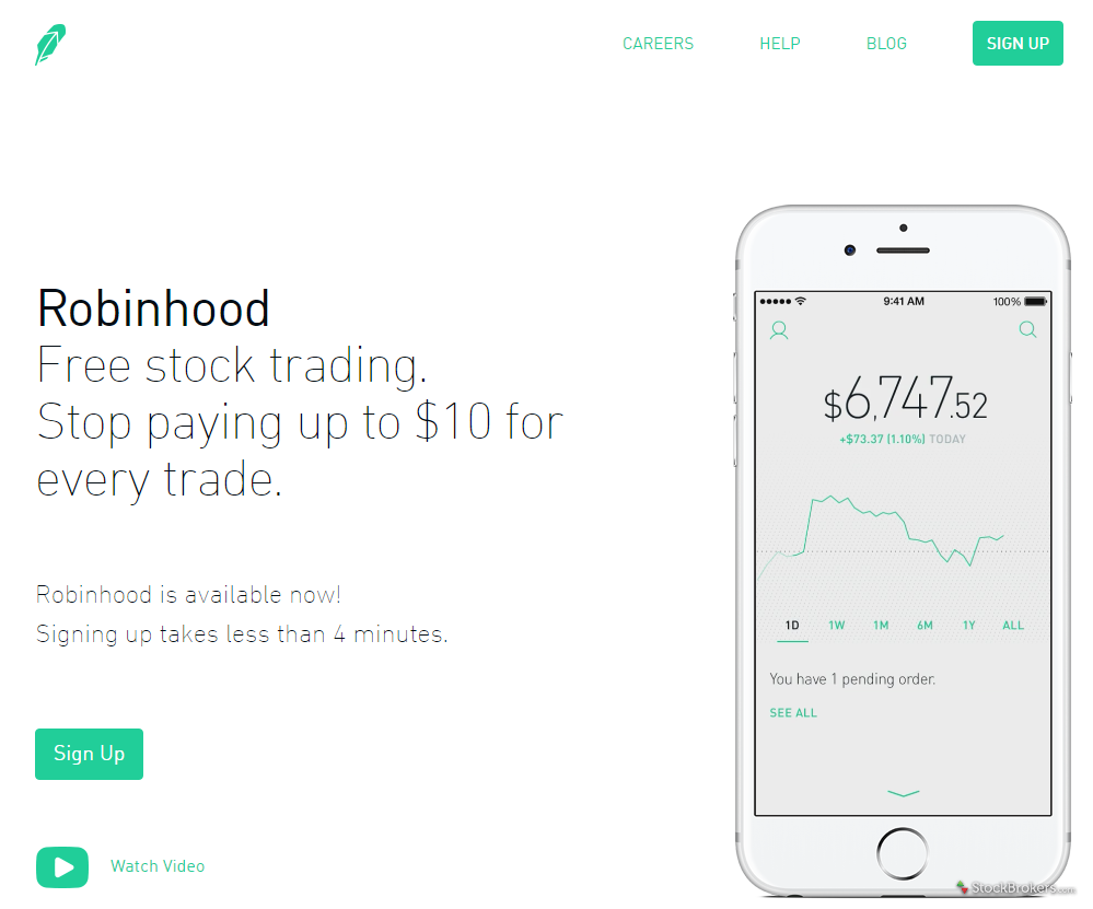Robinhood Homepage