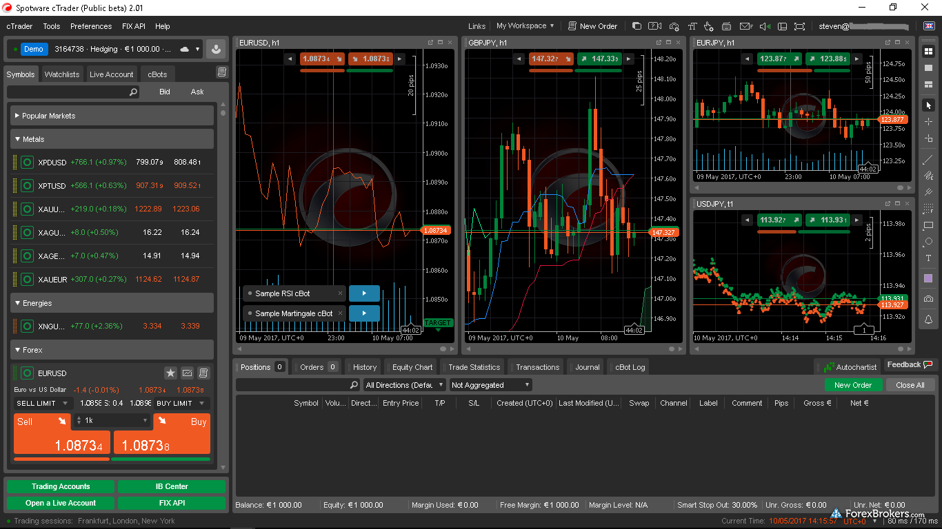 cTrader desktop windows