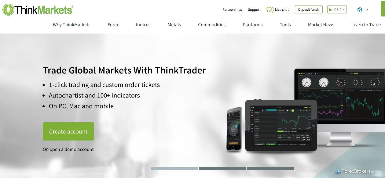 ThinkMarkets Homepage