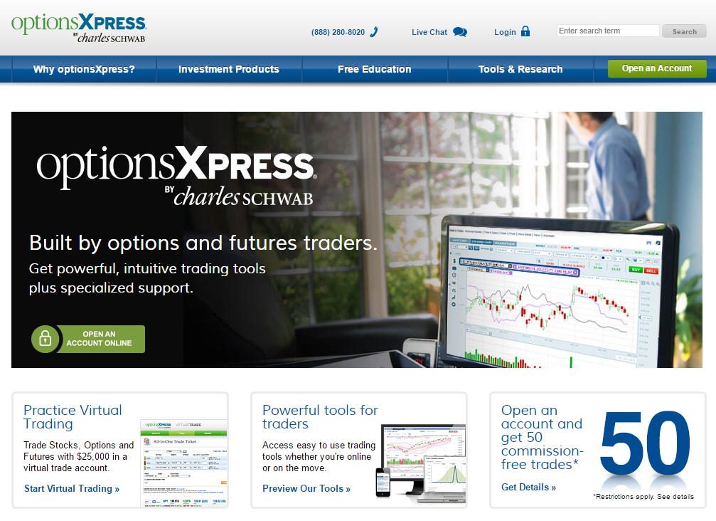 optionsXpress Homepage