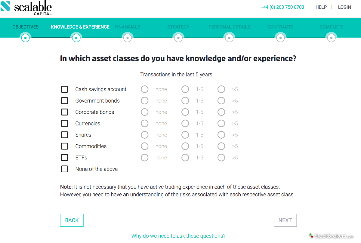 Scalable Investor Questionnaire