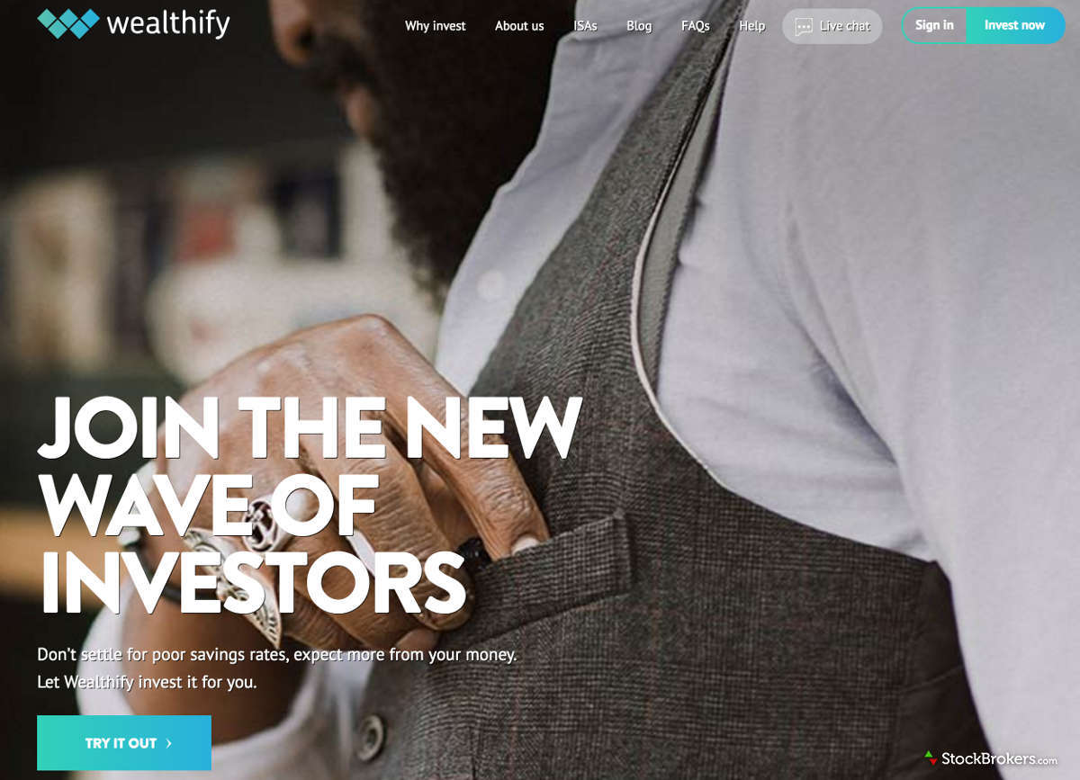 Wealthify Homepage