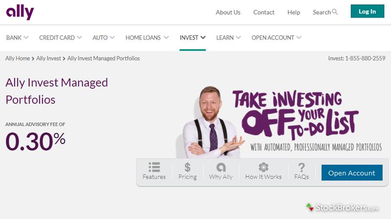 Ally Invest Advisors Homepage