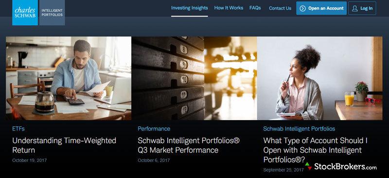 schwab intelligent portfolios investing insights