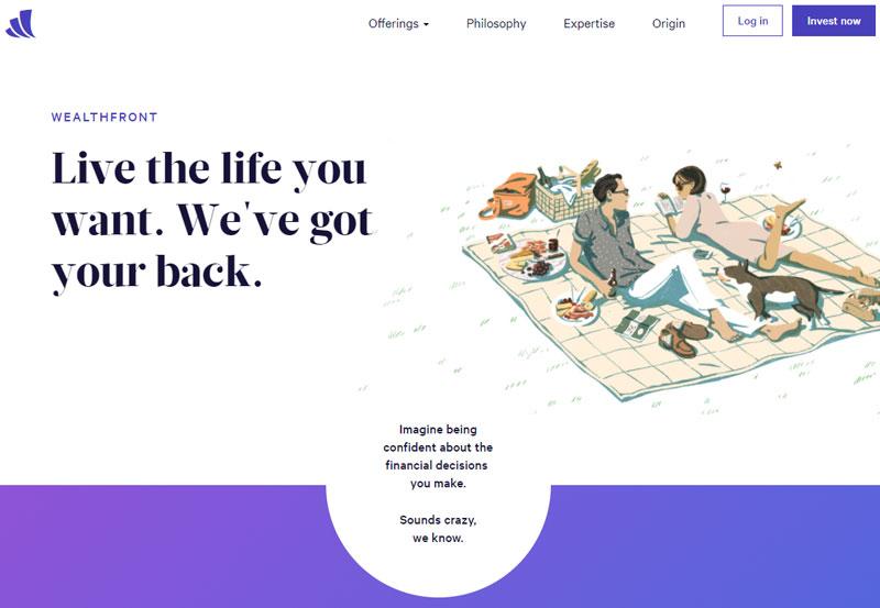 Wealthfront Homepage