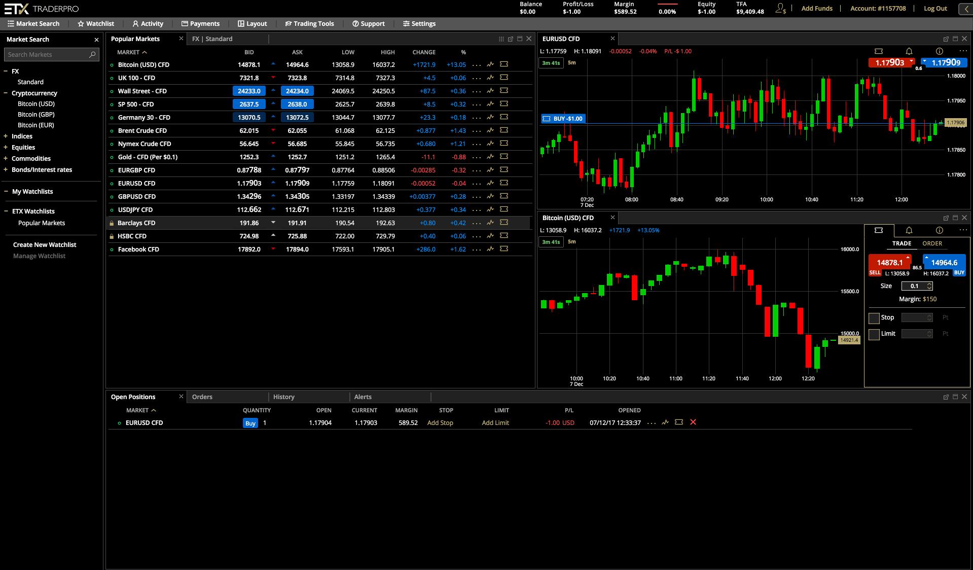 ETX Capital  Web Platform