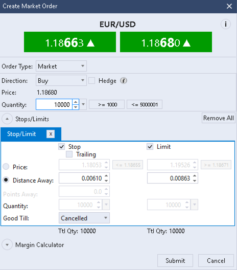 Forex.com (GAIN Capital) Trade Ticket