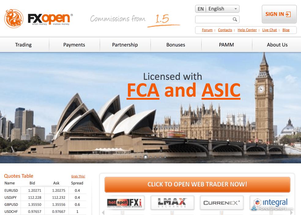 FXOpen Homepage