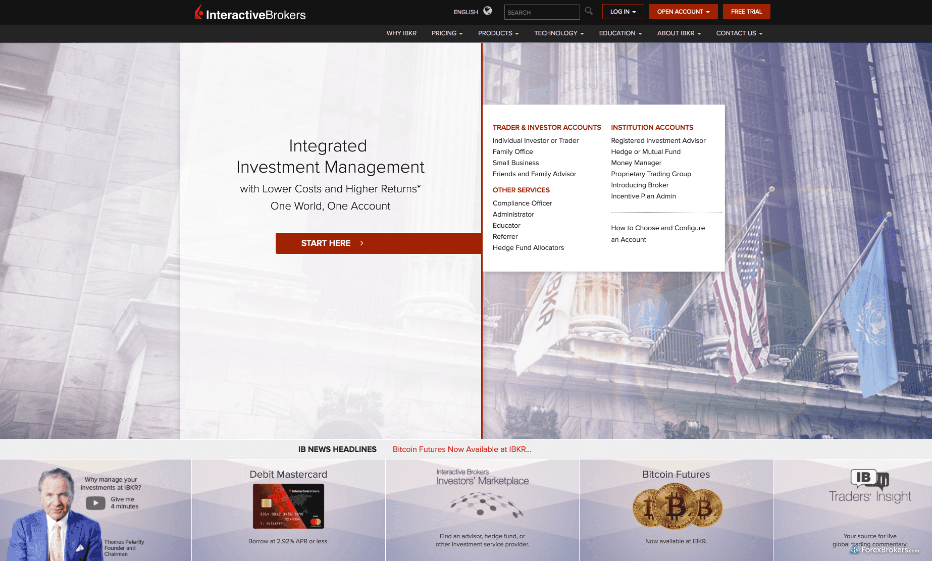 Interactive Brokers Homepage