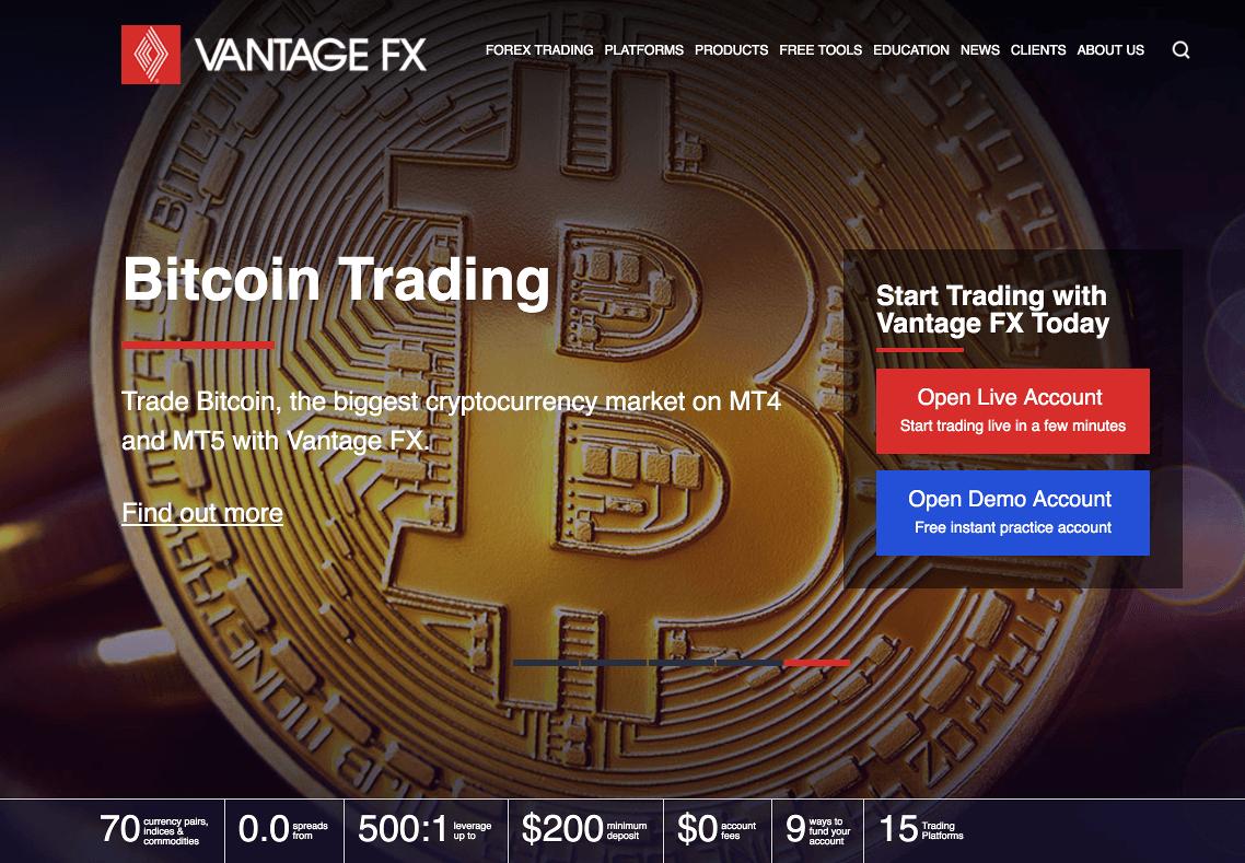 Vantage FX Homepage