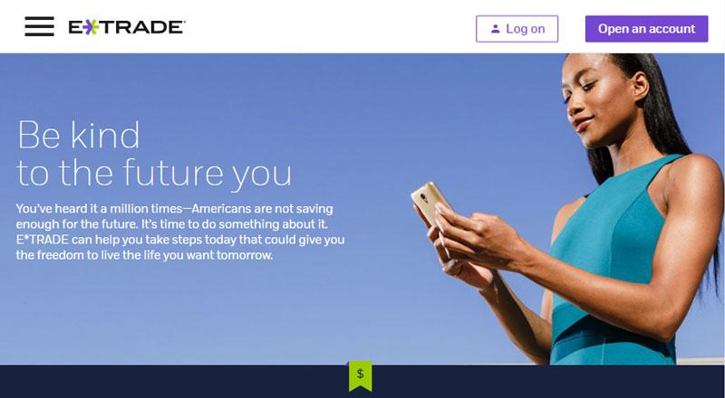 E*TRADE Homepage
