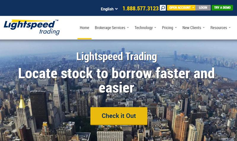 Lightspeed Trading Homepage