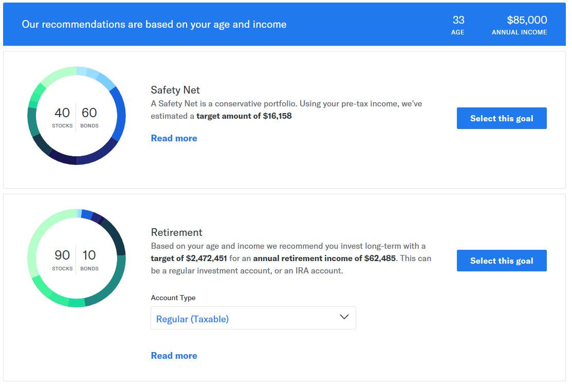Betterment Questionnaire