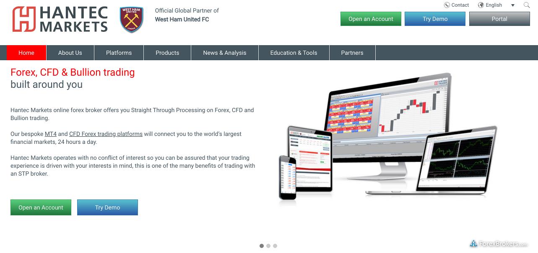 Hantec Markets Homepage