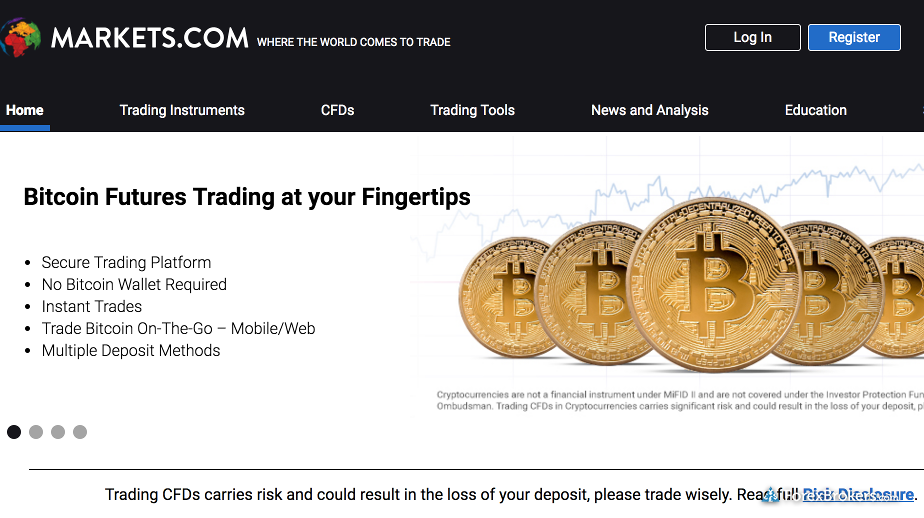 Markets com home page