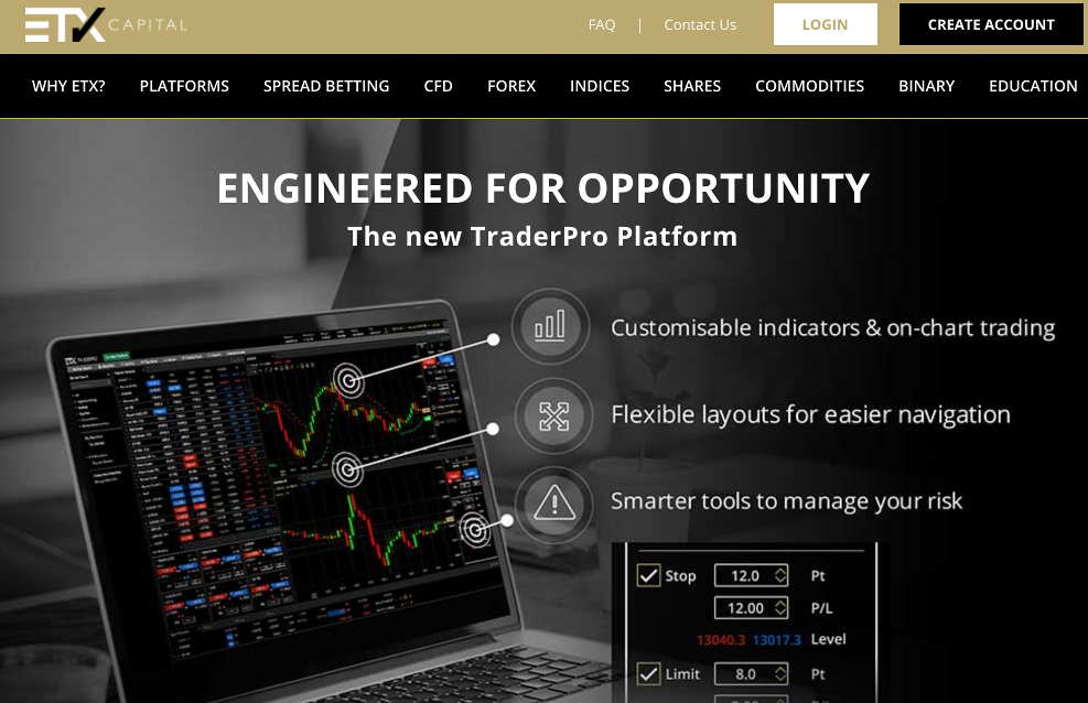 ETX Capital  Homepage