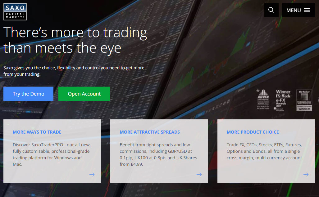 Saxo Capital Markets Homepage