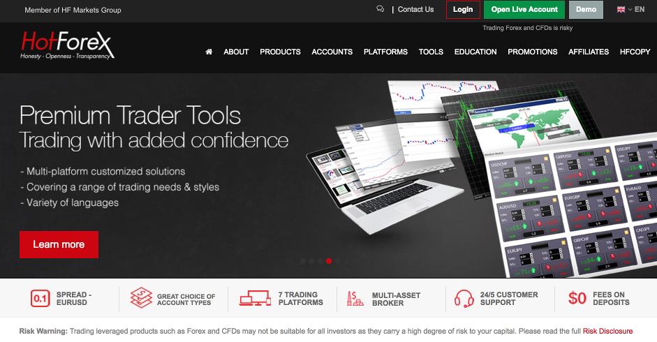 HotForex Homepage