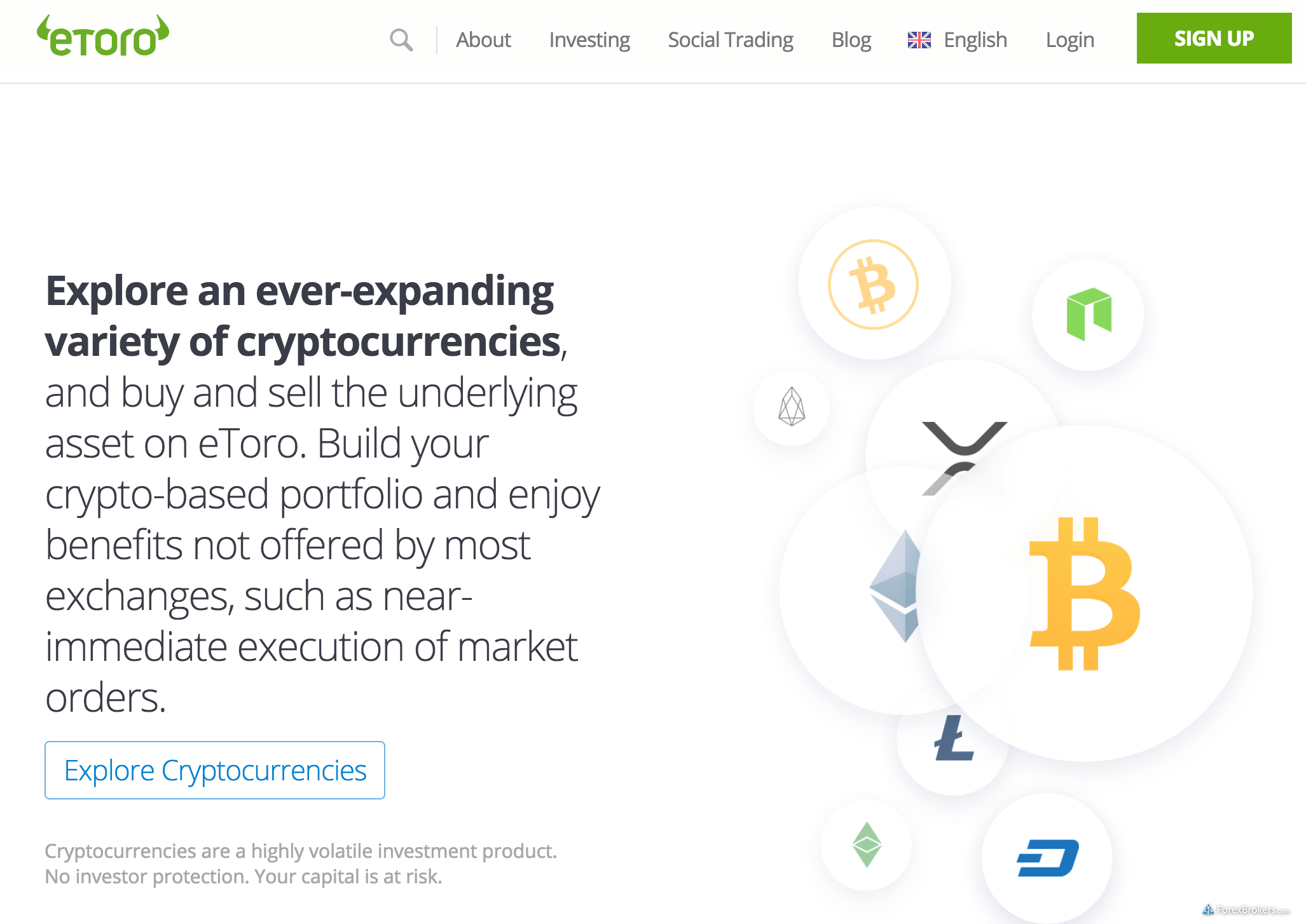 eToro Crypto Homepage