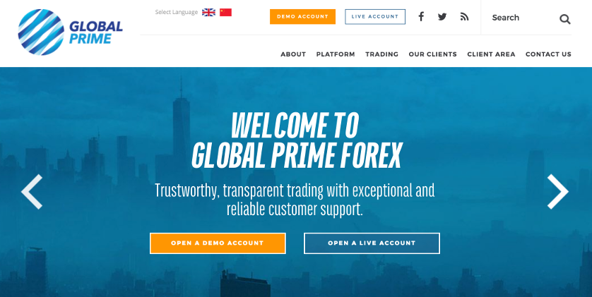 Global Prime Homepage