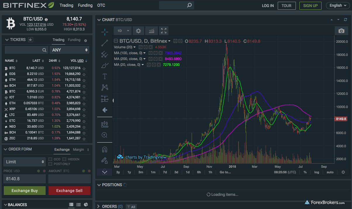 Bitfinex Web Platform