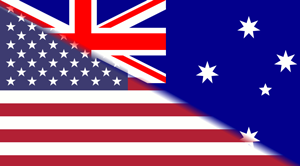 Australian United States flags