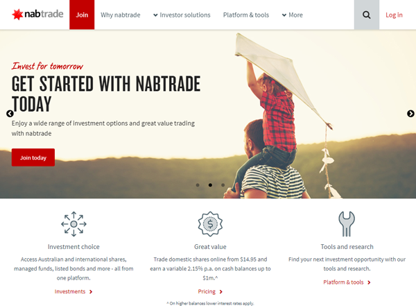 Nabtrade homepage