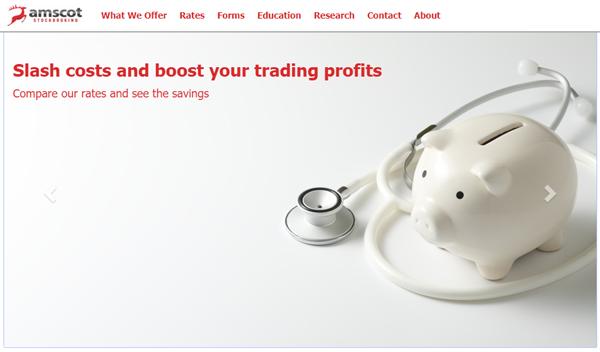 Amscot stockbroking homepage